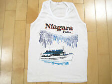 WICKED LOGO!! 80s vtg NIAGARA FALLS tank top T SHIRT MAID OF THE MIST small