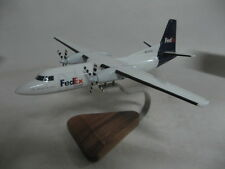 Fokker 27 F27 Friendship Fedex Airplane Desktop Wood Model