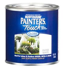 New Rust-Oleum 1992730 Painters Touch 1/2 Pint Latex, Gloss White