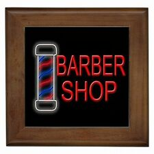 Barber Shop Vintage Stripe Pole Decorative Framed Wall Tile New!
