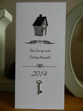 Personalised Handmade Good Luck In Your New Home Card - House - Cartref Newydd