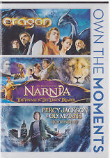 ERAGON/VOYAGE OF THE DAWN TREADER/PERCY JACKSON LIGHTNING THIEF (DVD,2014) NEW