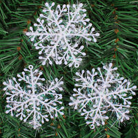 NEW 30x Christmas Holiday White Snowflake Charms Festival Decoration Ornaments