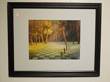 "Artist ""Curt Frankenstein"" Framed Print,Titled ""Demise of Winter"",Surreal Chess"