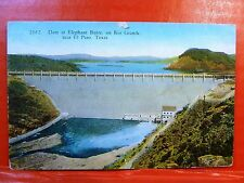 Postcard TX El Paso Elephant Butte Dam on Rio Grande River in New Mexico #2