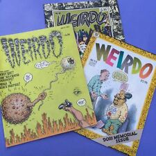 Set 3 VTG R Crumb /  Harvey Pekar WEIRDO comics magazines 80s prime condition