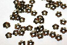 150pc Antique Brass Flower Bead Caps 6.5x6.5mm 1-3 day Shipping