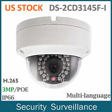 US STOCK Hikvision 4MP DS-2CD3145F-I HD PoE Mini Dome Outdoor Security IP Camera