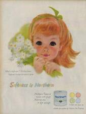 1959 Northern Bath Tissue Auburn Haired Little Girl 1 of 4 set PRINT AD