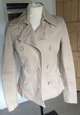 Cream Fitted Jacket, Size 10