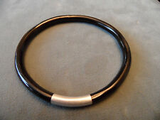 "4.7mm Natural Genuine Hawaiian Black Coral Branch Bangle Bracelet 7.5"" inch"
