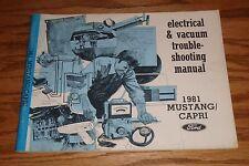 1981 Ford Mustang Mercury Capri Wiring Diagram Electrical EVTM Manual 81