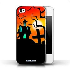 STUFF4 Back Case/Cover/Skin for Apple iPhone 4/4S/Halloween Scene