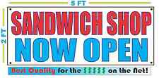SANDWICH SHOP NOW OPEN Banner Sign NEW Larger Size Best Quality for the $$$