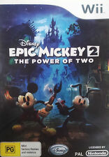 Epic Mickey 2 The Power of Two Nintendo Wii Game console 2012