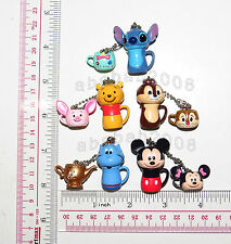 Yujin Disney tea & pot keychain Gashapon figure (full set of five figures)