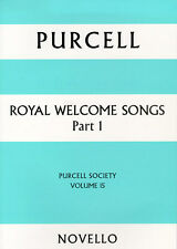 Purcell Society Royal Welcome Songs Learn to Sing Choir Vocal Music Book 1