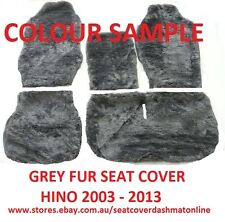 GREY ARTIFICIAL SHEEPSKIN SEAT COVER HINO 300 SERIES 2003 - 2013