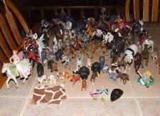 Large Lot Schliech Safari Lmt Hard Plastic Animals Knights Faries