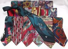 NEW Mens Lot of 3 Brand Name Silk & Other Bold & Colorful Group Necktie Ties