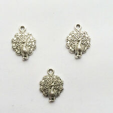 new arrival cute Peacock Tibetan Silver Bead charms Pendants 10pcs 20x15mm.