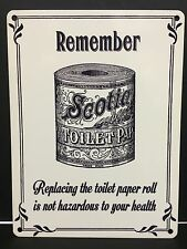 Scotia Toilet Paper Vintage Retro Style Steel Wall Plaque Sign Advertisement
