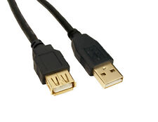 1.8m Metre USB 2.0 EXTENSION Cable Lead A Male To A Female GOLD CONNECTORS