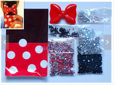 diy cellphone case deco den kit 3D bling crystal rhinestone cute bow flatback