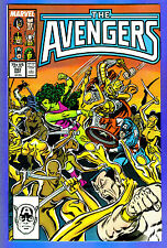 AVENGERS # 283  Marvel 1987 (fn-vf) Signed on Indicia Page by Writer Roger Stern