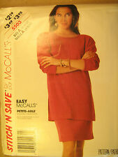 UNCUT Pattern 1992 EASY McCall SIZE 8 10 12 Misses 2 Piece Dress 5503 [Z25]