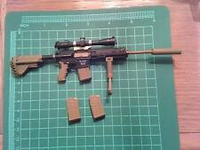 1/6 scale Easy Simple hk417 dark earth sniper rifle