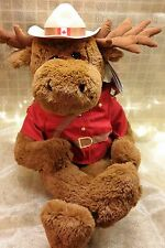 NWT RCMP Royal Canadian Mounted Police Plush Moose Sergeant Bullmoose 12""