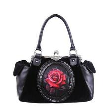 RED ROSE CAMEO BAG (Black)  by RESTYLE