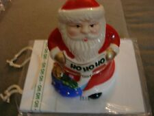 MR CHRISTMAS ANIMATED PORCELAIN MUSIC BOX SANTA CLAUS WITH A BAG