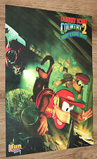1995 Nintendo Donkey Kong Country 2 Diddy's Kong Quest small Poster 30x42cm