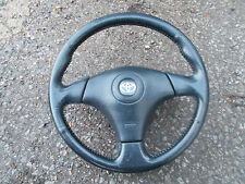 TOYOTA MR2 MK2 CONVERTIBLE MODELS 1999 - 2007 DARK GREY LEATHER STEERING WHEEL