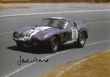 Jack Sears SIGNED 12x8 Shelby Cobra Daytona Coupe CSX2287 , Le Mans 24hrs 1965