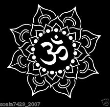 Lotus Flower Decal Car Window Laptop Namaste Yoga India OM Vinyl Sticker