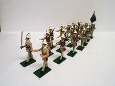 ASSET MINIATURES ROYAL MARINES BRITISH JAMAICA MARCHING X 20 GLOSSY 54MM(BS1580)