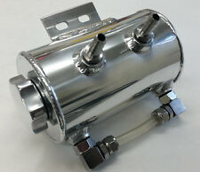 "Universal 3"" x 5"" Polished Stainless Power Steering Remote Reservoir   SBC BBC"