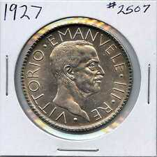 1927 20 Italy 20 Lire. Almost Uncirculated. Lot #2210
