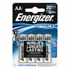8 ENERGIZER AA ULTIMATE LITHIUM BATTERIES 4 DIGITAL CAMERA LONG EXPIRY DATE 2035
