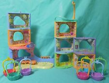 Littlest Pet Shop Lot of 8 Nooks & 7 Round & Round Town Baskets Playset Access.