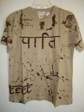 Sir Alistair Rai Khaki Tan T shirt truth Mantra Design Print SZ S New