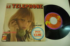 THE BARONET 45T LE TELEPHONE(CLAUDE FRANCOIS) / CROCODILE DANCE. DISQUES FLECHE
