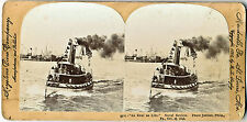 SV Naval Review Boat, Peace Jubilee, Philadelphia. PA Oct. 15, 1898 Stereoview