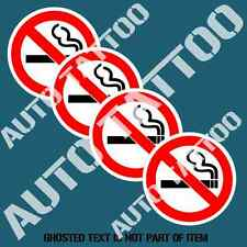 NO SMOKING DECAL STICKER SET X4 FOR COMMERCIAL OH&S SHOP WARNING DECALS STICKERS