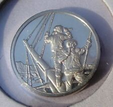 Franklin Mint STERLING SILVER Mini-Ingot:1840 WILKES EXPEDITION to ANTACTIC
