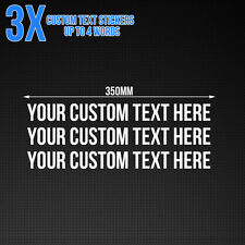 Custom text sticker - Car / Van / Shop Window Vinyl Decal, 350mm x3