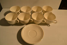 8 wedgewood edme off white cups with 3 saucers